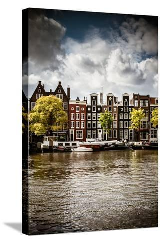 Amsterdam Canal I-Erin Berzel-Stretched Canvas Print