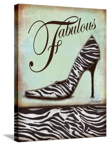 Zebra Shoe-Todd Williams-Stretched Canvas Print