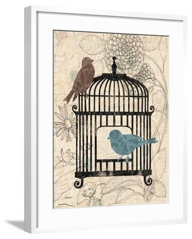 Birds and Blooms II-Todd Williams-Framed Art Print