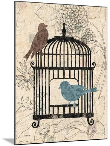 Birds and Blooms II-Todd Williams-Mounted Art Print