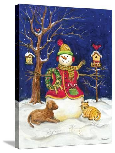 Snowman and Friends-Todd Williams-Stretched Canvas Print