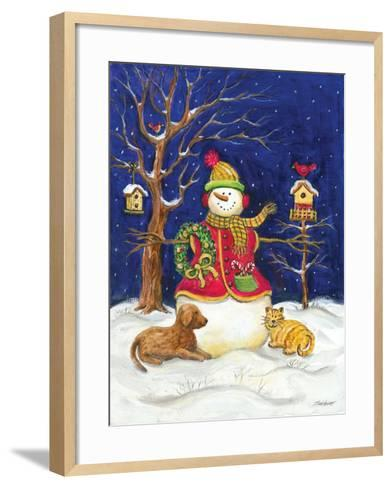 Snowman and Friends-Todd Williams-Framed Art Print