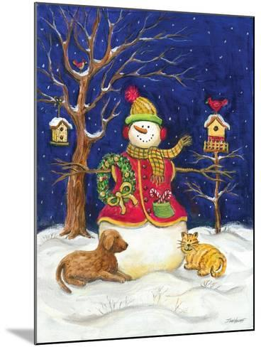 Snowman and Friends-Todd Williams-Mounted Art Print