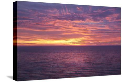 Sunset at Sea-Karyn Millet-Stretched Canvas Print