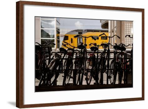 Bicycles at Centraal Station-Erin Berzel-Framed Art Print