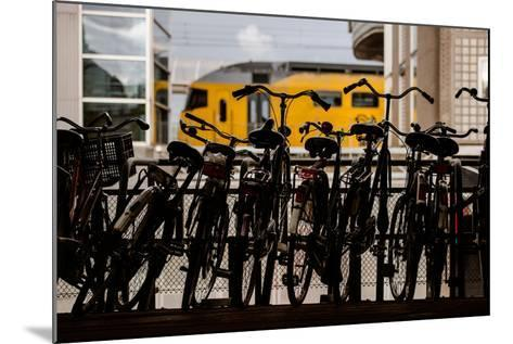 Bicycles at Centraal Station-Erin Berzel-Mounted Photographic Print