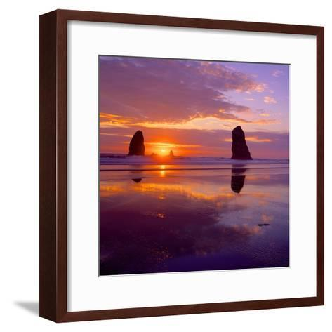 Cannon Beach VIII-Ike Leahy-Framed Art Print