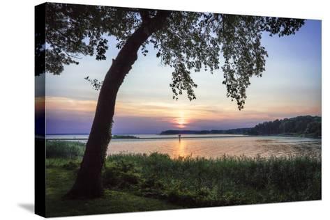 Cobb Island Sunset I-Alan Hausenflock-Stretched Canvas Print