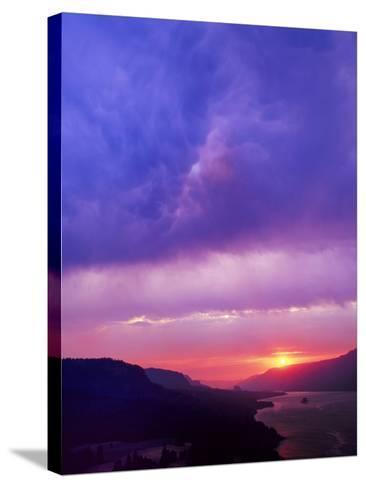Columbia River Gorge II-Ike Leahy-Stretched Canvas Print