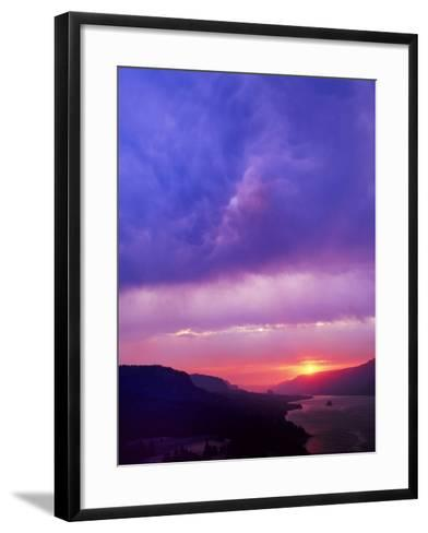 Columbia River Gorge II-Ike Leahy-Framed Art Print