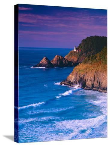 Heceta Head Lighthouse-Ike Leahy-Stretched Canvas Print