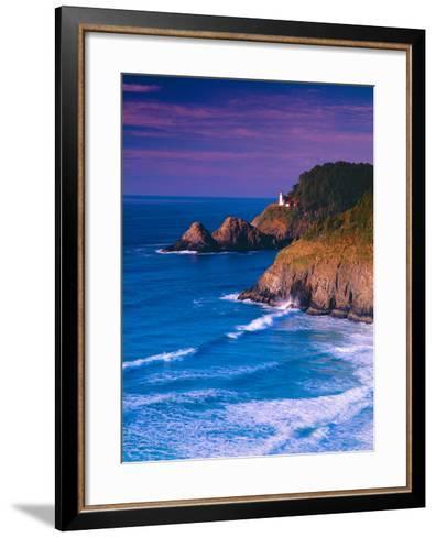 Heceta Head Lighthouse-Ike Leahy-Framed Art Print