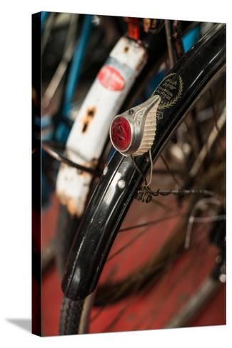 Dutch Bike Detail-Erin Berzel-Stretched Canvas Print