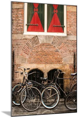 Dutch Bicyles-Erin Berzel-Mounted Photographic Print