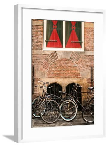 Dutch Bicyles-Erin Berzel-Framed Art Print