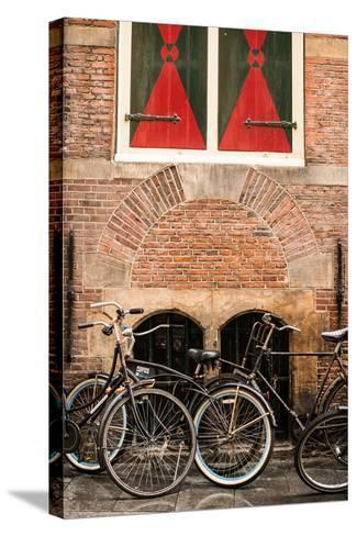 Dutch Bicyles-Erin Berzel-Stretched Canvas Print