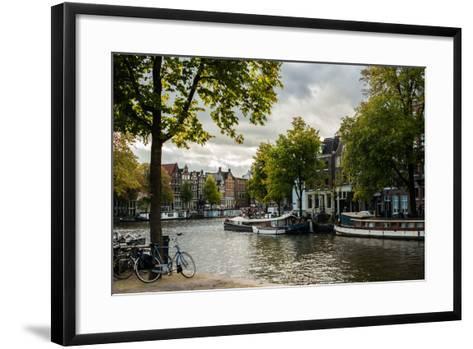 Amsterdam Canal III-Erin Berzel-Framed Art Print
