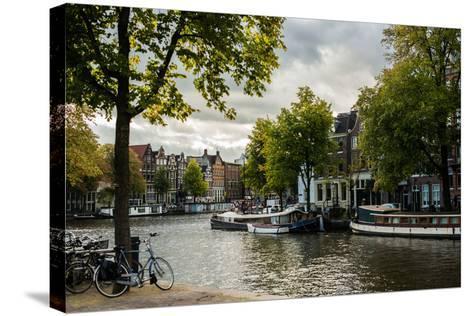 Amsterdam Canal III-Erin Berzel-Stretched Canvas Print