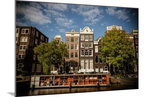 Amsterdam Canal Houses I-Erin Berzel-Mounted Photographic Print
