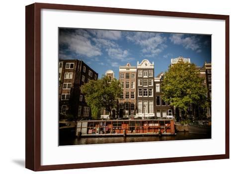 Amsterdam Canal Houses I-Erin Berzel-Framed Art Print