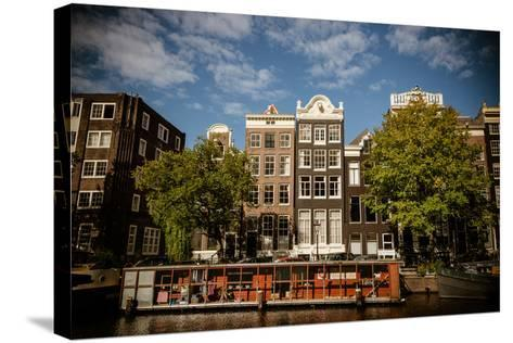 Amsterdam Canal Houses I-Erin Berzel-Stretched Canvas Print
