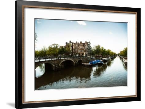 Brouwersgracht Canal-Erin Berzel-Framed Art Print