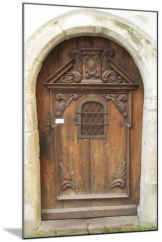 Passau Wood Door-George Johnson-Mounted Photographic Print