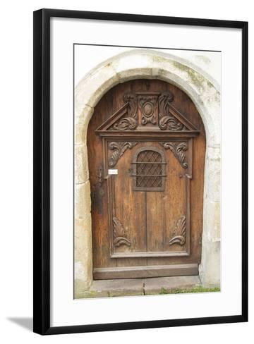 Passau Wood Door-George Johnson-Framed Art Print