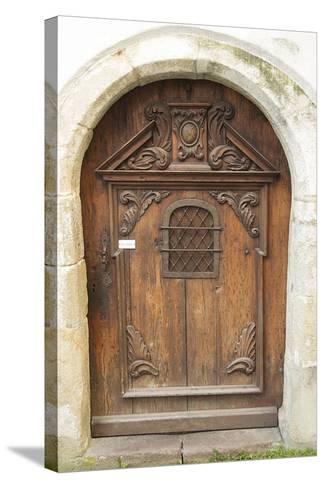 Passau Wood Door-George Johnson-Stretched Canvas Print