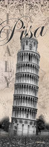 Leaning Tower-Todd Williams-Stretched Canvas Print