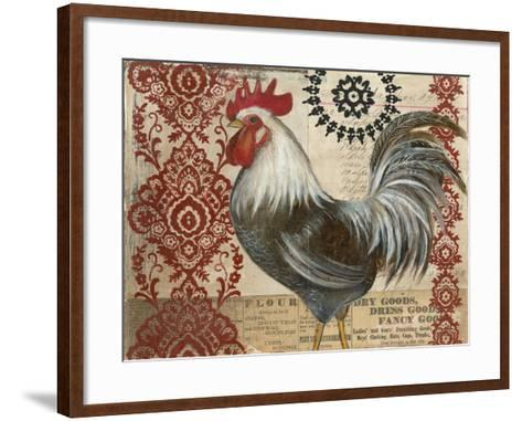 Classic Rooster II-Kimberly Poloson-Framed Art Print