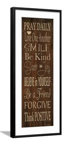 Words to Live by I-Todd Williams-Framed Art Print