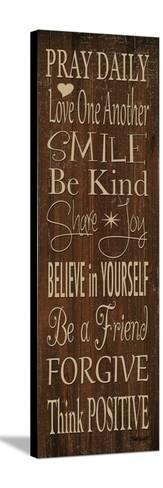 Words to Live by I-Todd Williams-Stretched Canvas Print