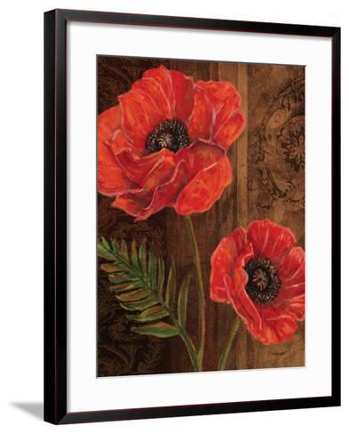 Poppy Portrait II-Todd Williams-Framed Art Print