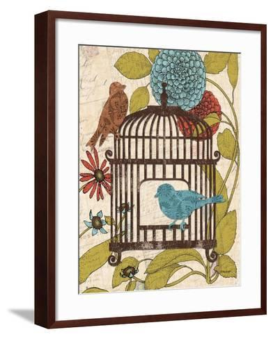 Birds and Blooms IV-Todd Williams-Framed Art Print