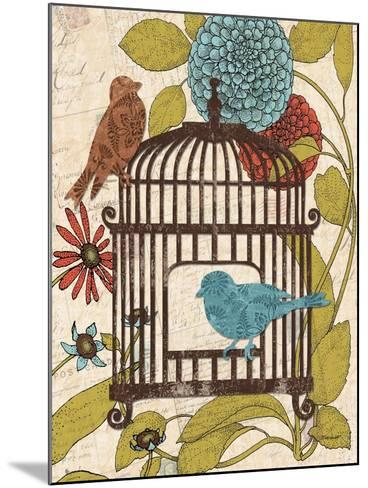 Birds and Blooms IV-Todd Williams-Mounted Art Print