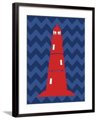 Nautical Lighthouse-N^ Harbick-Framed Art Print