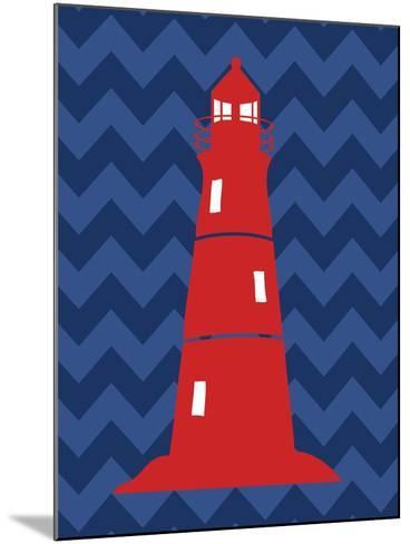 Nautical Lighthouse-N^ Harbick-Mounted Art Print