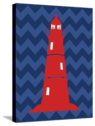 Nautical Lighthouse-N^ Harbick-Stretched Canvas Print