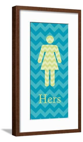 Hers Panel-N^ Harbick-Framed Art Print