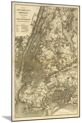 1885 NYC Map-N^ Harbick-Mounted Art Print
