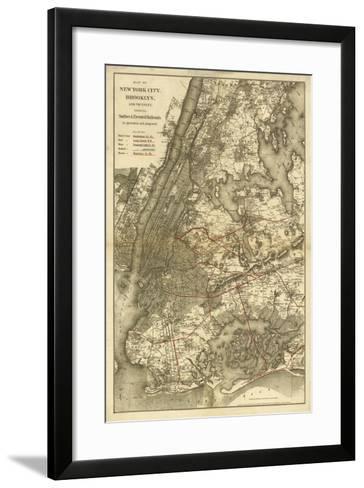 1885 NYC Map-N^ Harbick-Framed Art Print