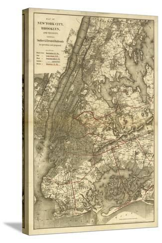 1885 NYC Map-N^ Harbick-Stretched Canvas Print