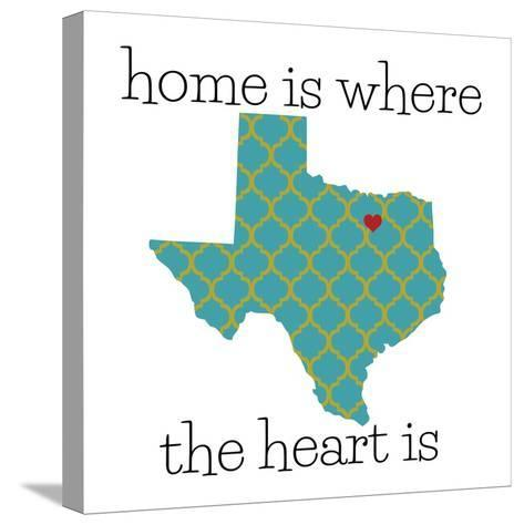 Texas Home-N^ Harbick-Stretched Canvas Print