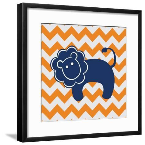 Blue Lion-N^ Harbick-Framed Art Print