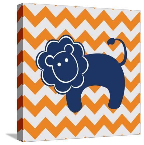 Blue Lion-N^ Harbick-Stretched Canvas Print