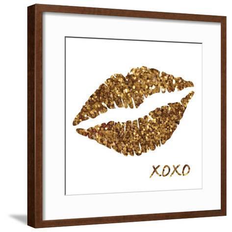Glitter Lips Sq I-N^ Harbick-Framed Art Print