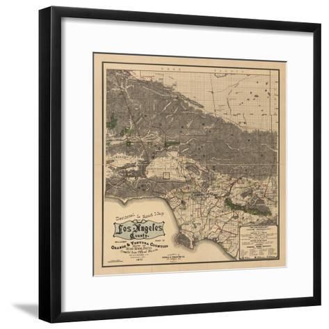 1900 LA Road Map-N^ Harbick-Framed Art Print