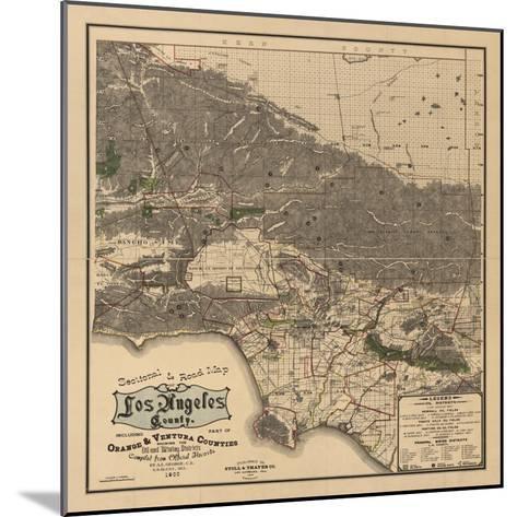 1900 LA Road Map-N^ Harbick-Mounted Art Print