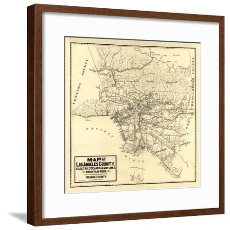 1912 LA Railway Map-N^ Harbick-Framed Art Print